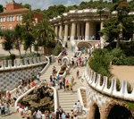 Picnic in Parc Guell, Barcelona