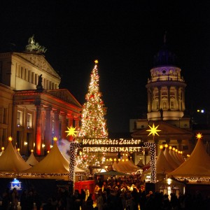 The Gendarmenmarket Weihnachtsmarkt in Berlin Germany
