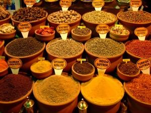 Spices for sale at the spice bazaar