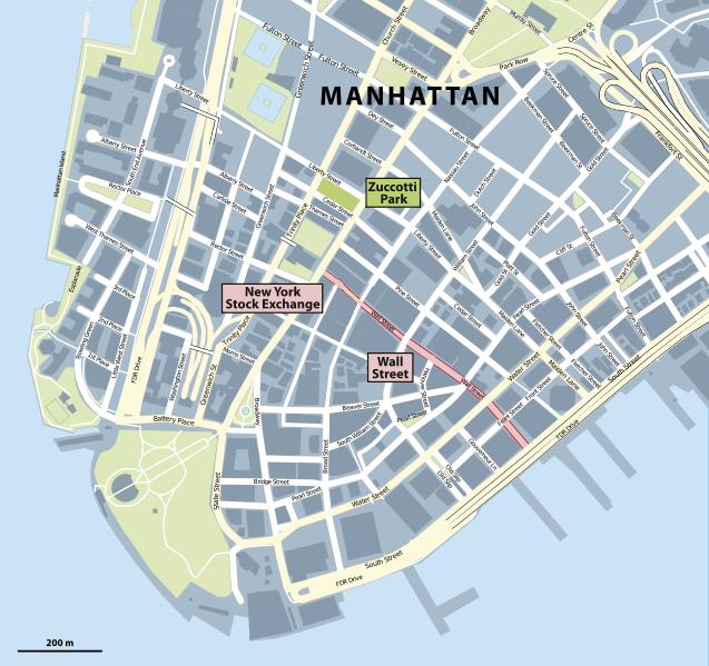 A map of Manhattan