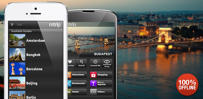mTrip travel Guides for iphone and Android