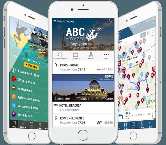 Applications mobiles pour le voyage