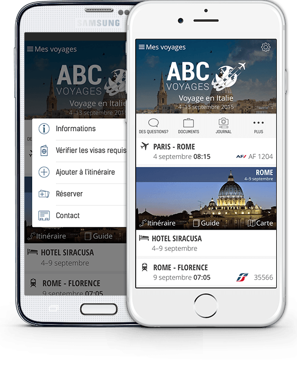 Application mobile agences de voyages