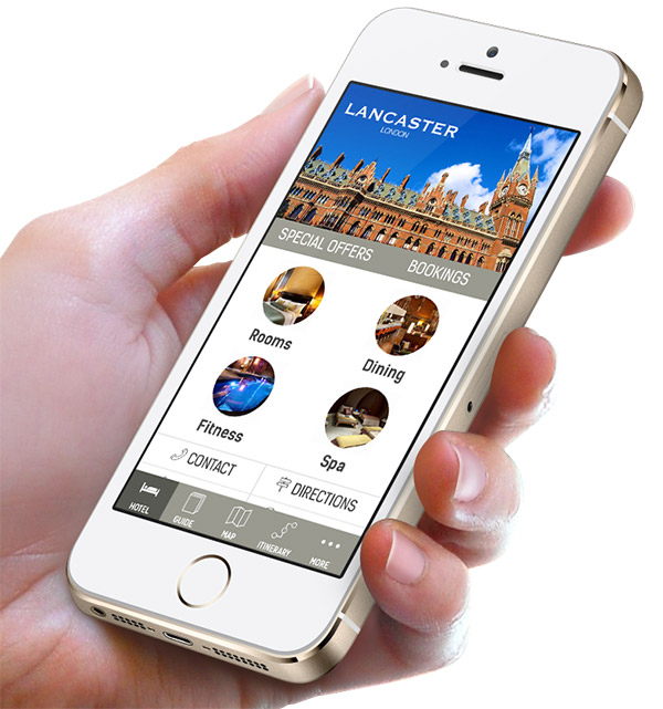 Branded mobile application for hotels